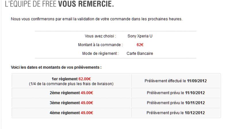 Free Mobile : Les modalités du paiement en 4 fois sans frais