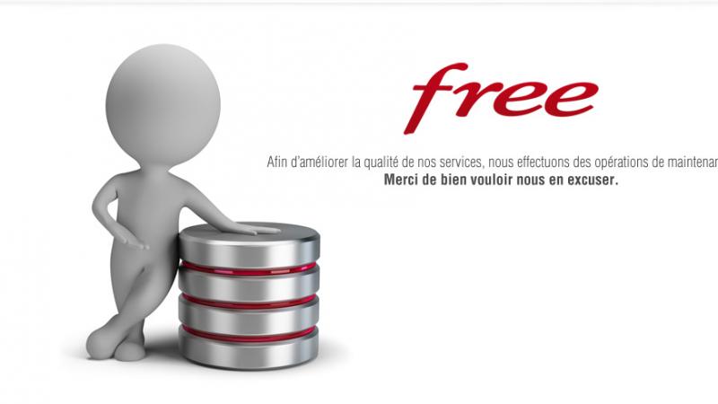 Free Mobile : Maintenance de l'espace d'abonnement