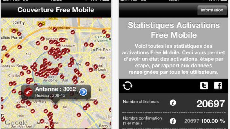 Free Mobile Stats (IOS) : Une carte du réseau et un calculateur des frais de résiliation