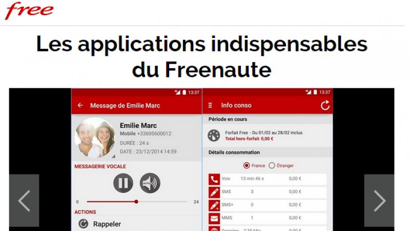 Le portail de Free vous propose de découvrir « les applications indispensables du Freenaute »