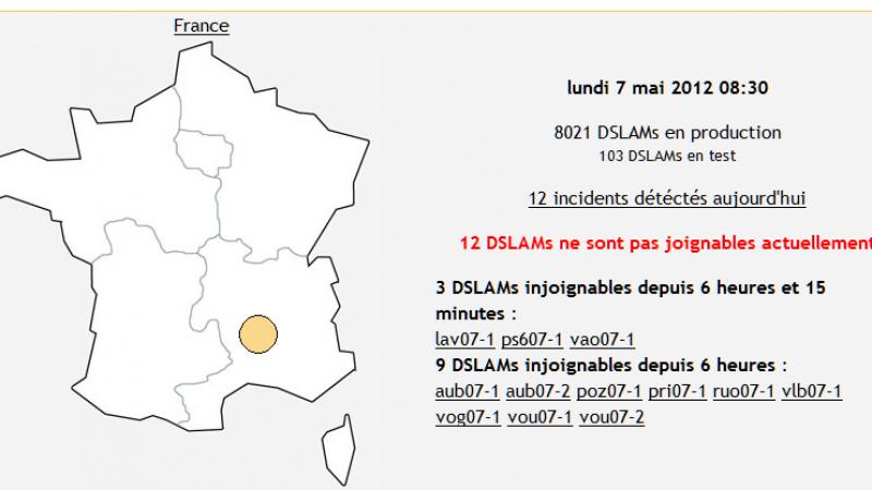 Free : Panne sur les DSLAM de l'Ardèche