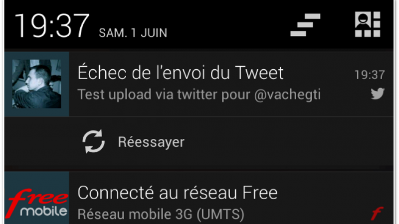 Free Mobile : un bug pour insérer des photos sur Twitter