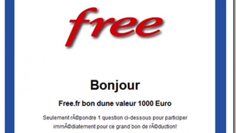 Un  phishing qui vous promet de l'argent : Quel est le meilleur opérateur, Free ou Orange ?