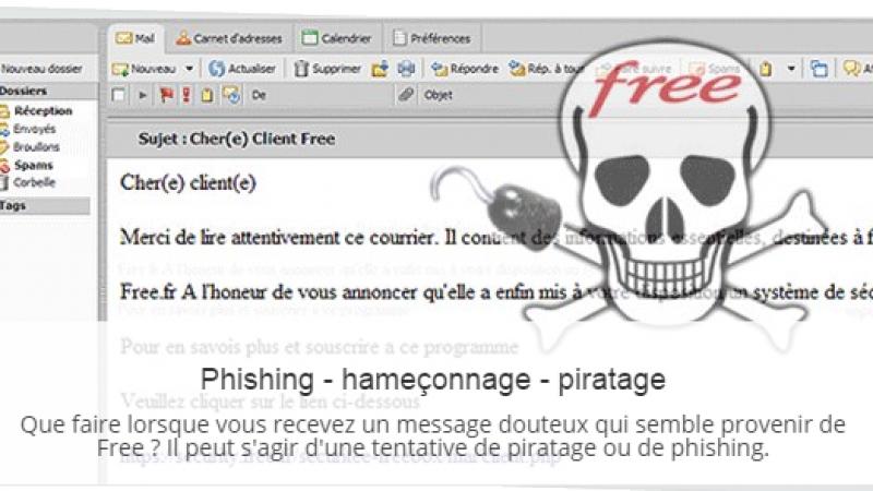 Free : l'assistance téléphonique diffuse un message de prévention contre le phishing