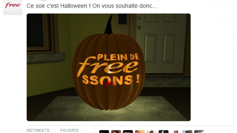 C'est Halloween, Free « vous souhaite donc plein de Freessons ».