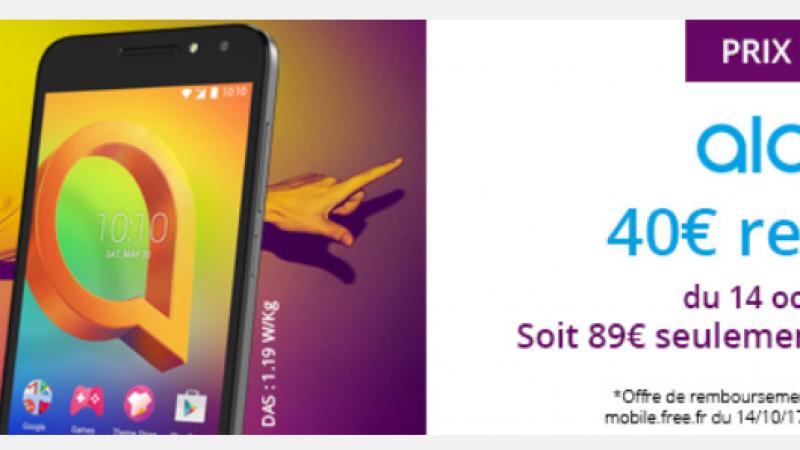 Free Mobile : un smartphone 4G passe sous la barre des 100€, ODR déduite