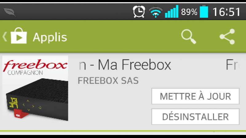Une mise à jour est disponible pour Freebox Compagnon (Android)