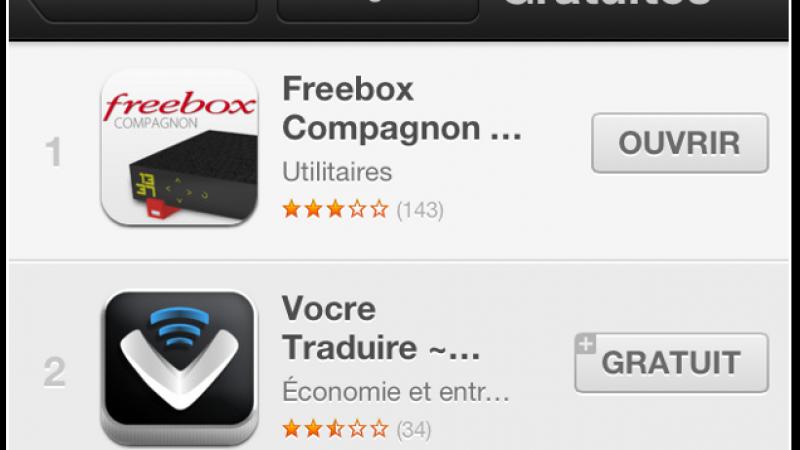 Freebox Compagnon, roi de l'Appstore !