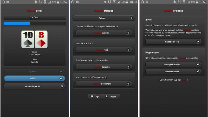L'application « Freebox Droidpad » a été mise à jour pour accueillir le jeu « Freebox Poker »
