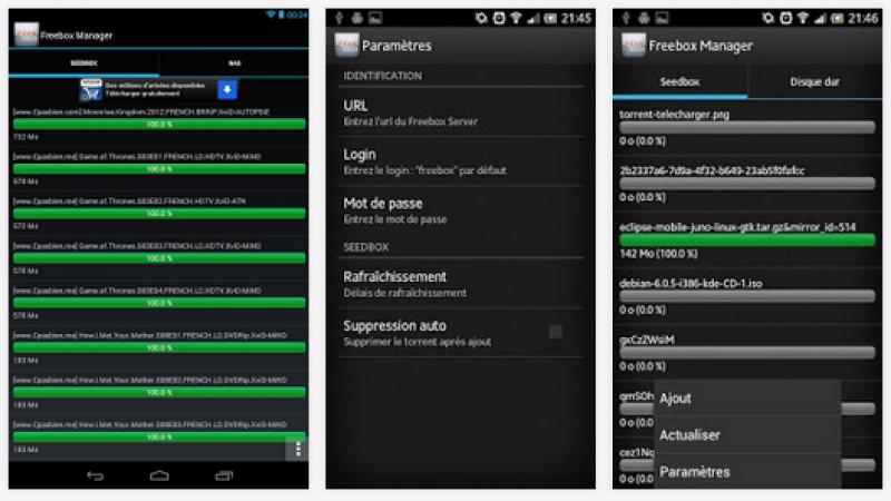 Une mise à jour avec des nouveautés pour Freebox Manager (Android)