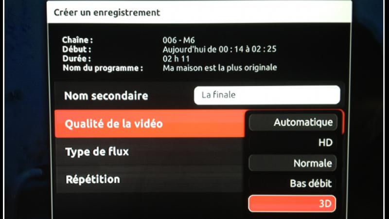 Free autorise l'enregistrement des programmes 3D avec la Freebox Révolution