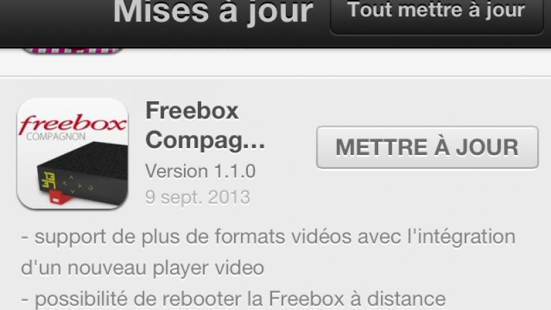 Nouvelle mise à jour estampillée 1.1.0 pour Freebox Compagnon (iOS)