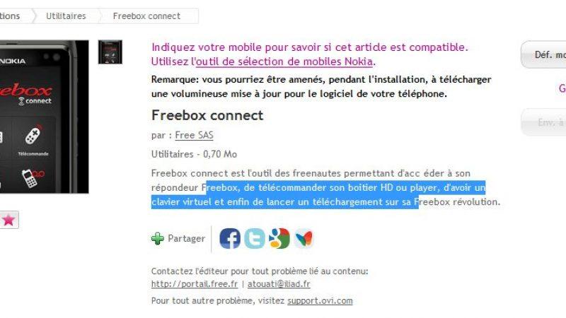 Freebox Connect disponible sur l'OVI Store (Nokia)