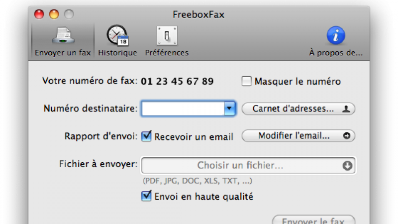 FreeboxFax lance sa version 0.6.1