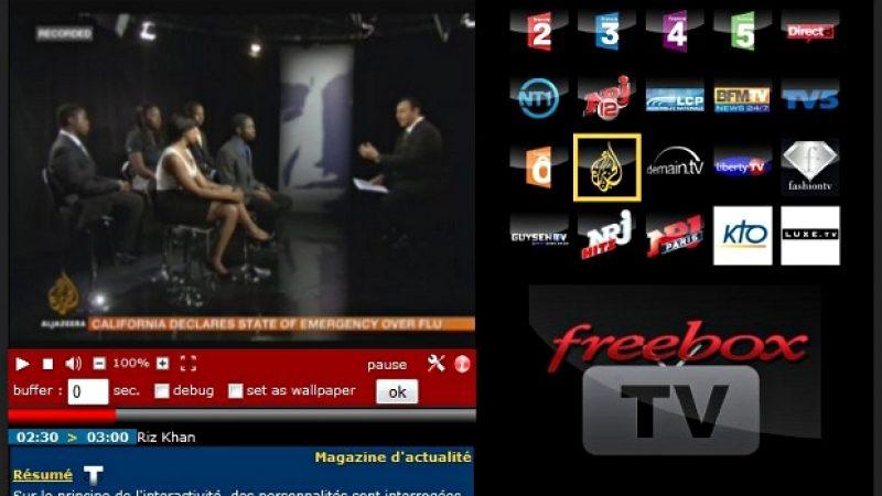 Free : Amélioration du service tv.freebox.fr (contrôle du direct…)