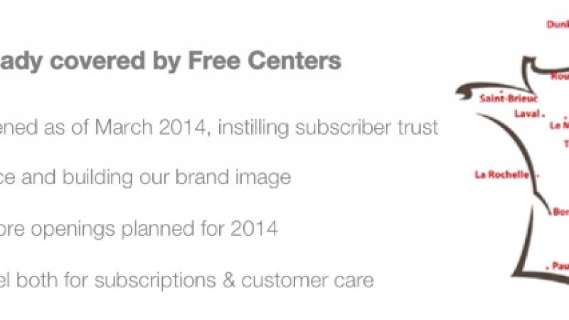 Free : 38 Free Center ouverts et 15 ouvertures prévues en 2014