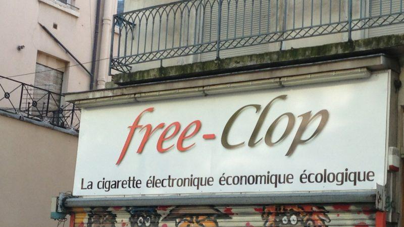 Insolite : Free-Clop un magasin à Lyon qui reprend le logo de l'opérateur