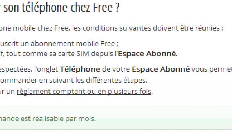 Free Mobile : une seule commande de téléphone par mois en théorie, aucune restriction en pratique