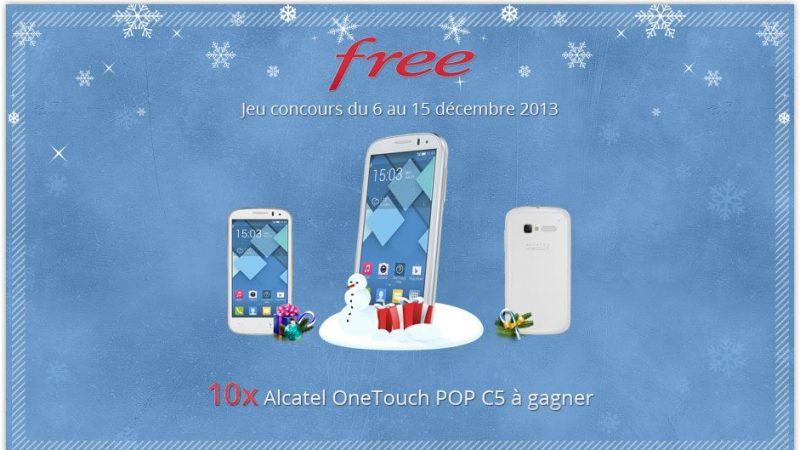 Free annonce un concours pour gagner 10 smartphones