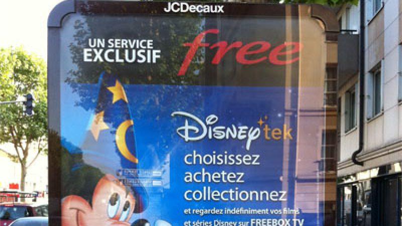 Free lance une nouvelle campagne d'affichage avec Disney et abc