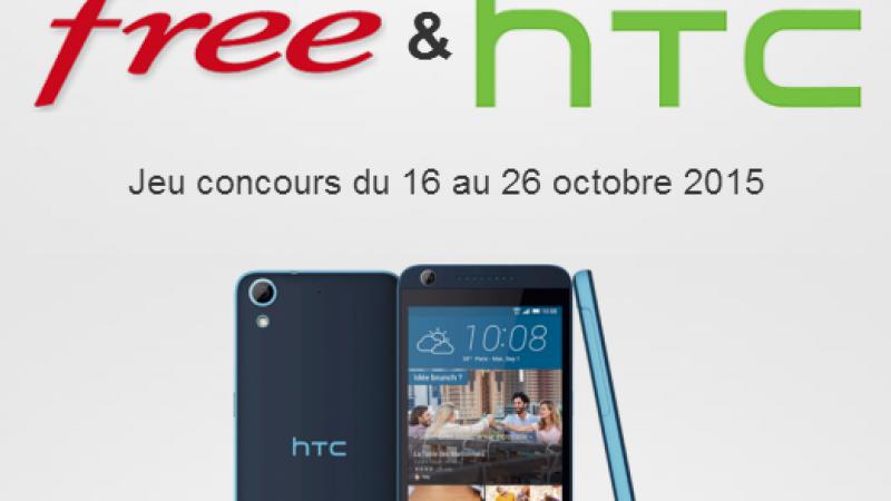 Free vous propose de gagner un HTC Desire 626 en répondant à un quizz