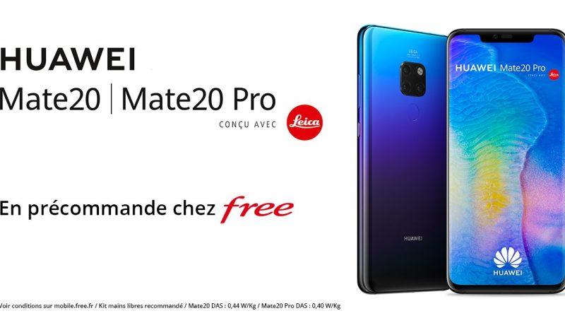 Free Mobile : les nouveaux Huawei Mate 20 et Mate 20 Pro sont disponibles en précommande avec un petit cadeau supplémentaire