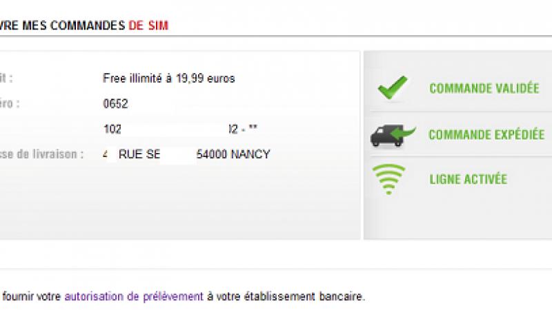 comment activer carte sim free forfait 2 euros