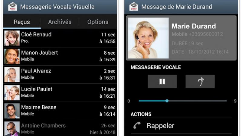 Free Mobile : Nouvelle mise à jour 1.09 pour la Messagerie Vocale Visuelle Android