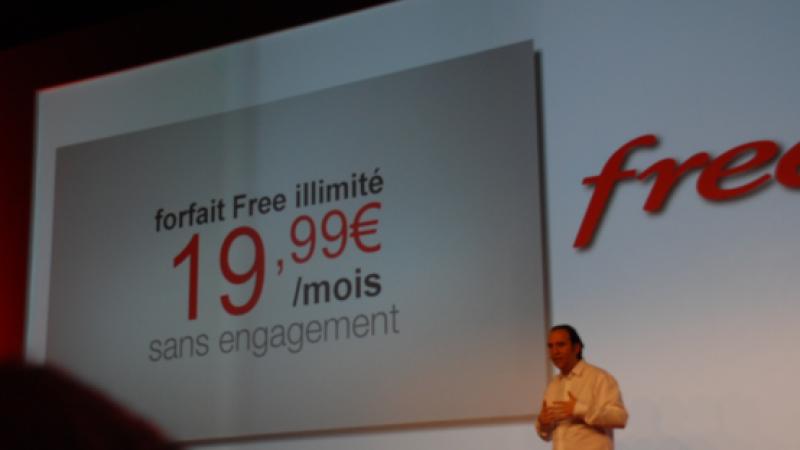 Free Mobile : 57% des abonnés disposeraient du forfait 2 euros