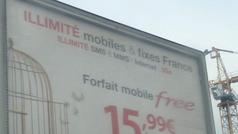 Publicité : Free Mobile communique pour la première fois sur son tarif à 15,99€