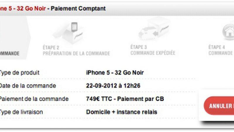 FreeMobile : « Annuler ma commande » d'iPhone 5 depuis l'espace Abonné