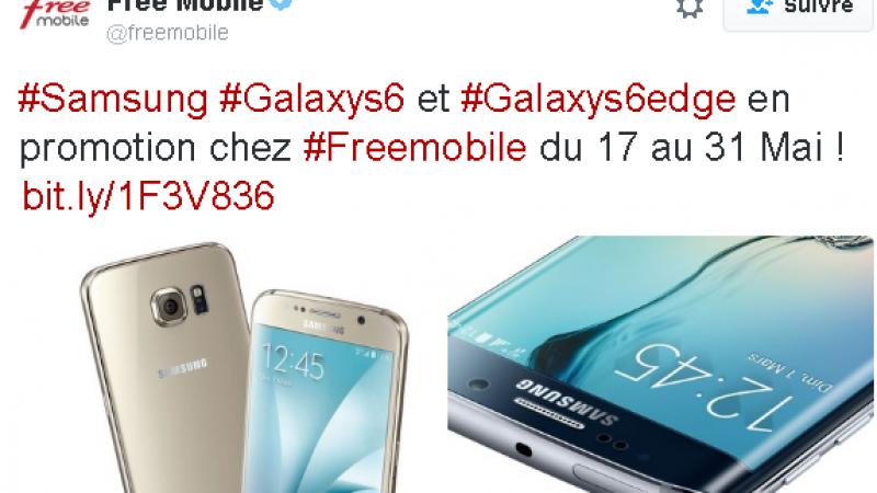 Free Mobile : des promos sur les Galaxy S6 et S6 Edge, en location ou à l'achat