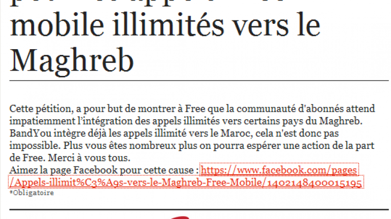 Des abonnés Free Mobile réclament les appels illimités vers le Maghreb