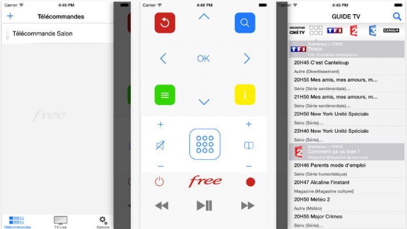 FreeSelect : live TV, guide TV et télécommande virtuelle pour votre Freebox