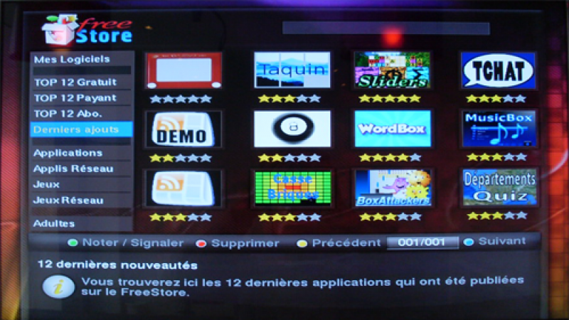Nouvelle rubrique sur le FreeStore : Les dernières applications ajoutées