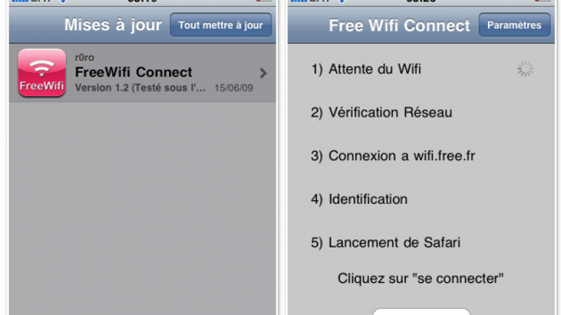 iPhone-iPod : Mise à jour pour FreeWifi Connect