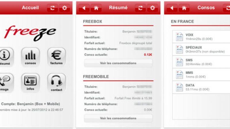 Freeze : toutes vos données Freebox et Free Mobile réunies en une seule application