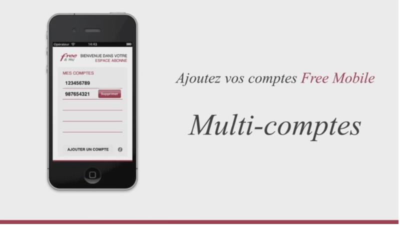 Free & Me : Un suivi conso multi-comptes sur iPhone