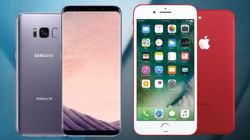 L'iPhone 7 remporte la bataille des ventes contre le Samsung Galaxy S8