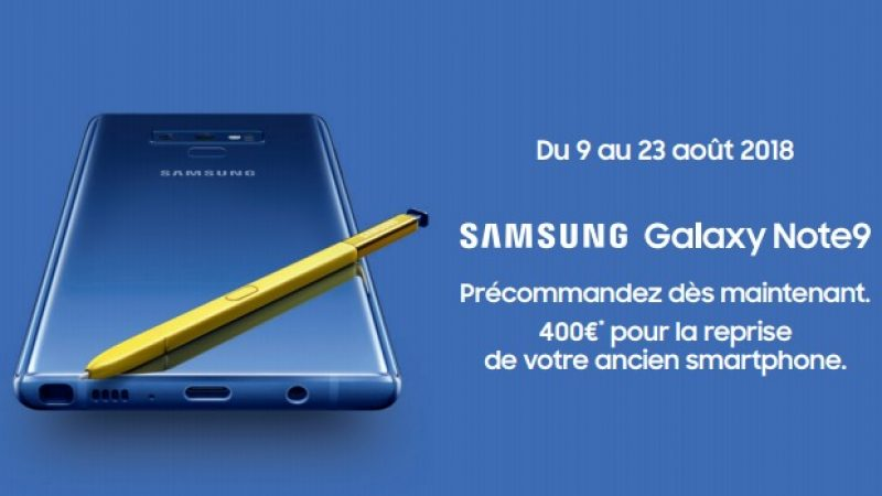Free Mobile : Le Galaxy Note 9 est maintenant disponible en précommande en version 512Go à 1259€