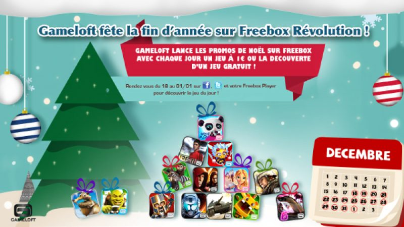 Gameloft fête Noël sur Freebox Révolution