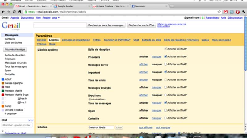 Abonnement Free : quelques soucis avec Gmail