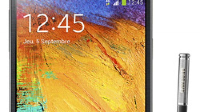 Nouvelle  phablette dans la boutique  Free mobile : le Galaxy Note 3