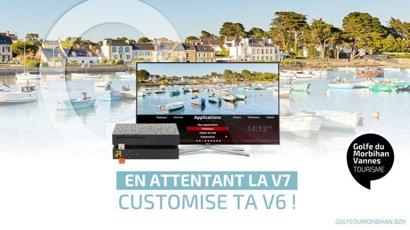 Clin d'œil : un office du tourisme surfe sur la vague Freebox «  en attendant la V7, customise ta V6 »