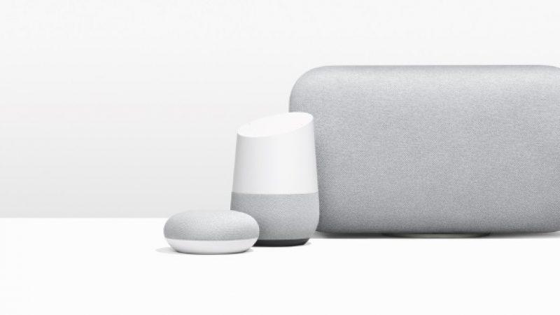 Google a présenté officiellement les déclinaisons Mini et Max de son enceinte connectée