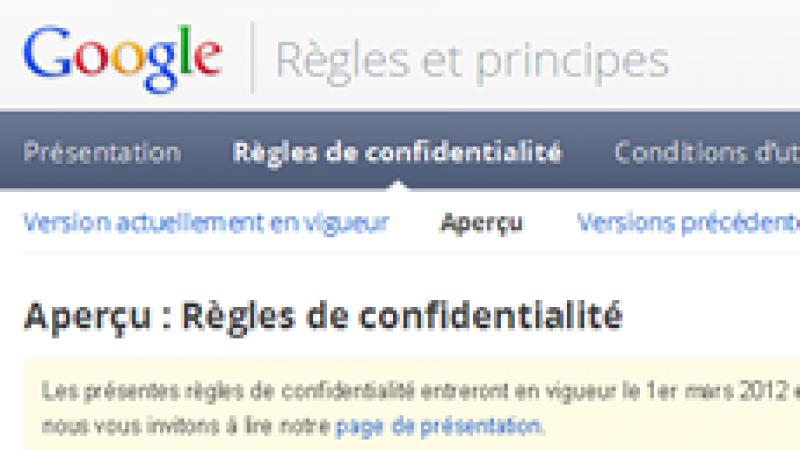 Google épinglée par la CNIL.