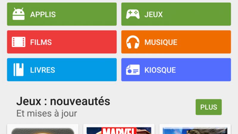 """Play Store : opération """"Grand jeux, petits prix, à partir de 0,19€"""""""