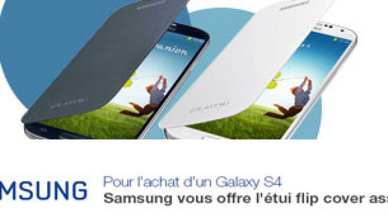 Free Mobile : Un étui flip cover offert pour l'achat d'un Galaxy S4