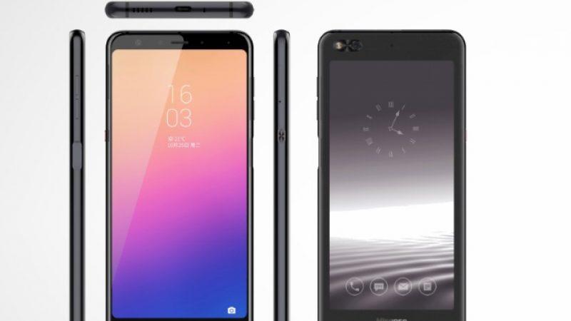 HiSense A6 : un nouveau smartphone embarquant un écran e-ink à l'arrière