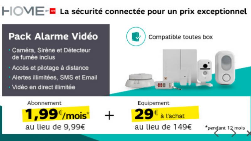 SFR lance une offre sur Showroom Privé pour son pack alarme vidéo, compatible avec toutes les box